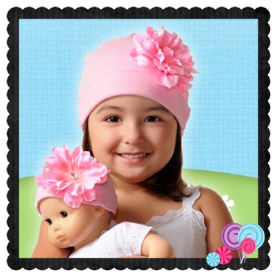 Bubble Gum Hat Pink Flower