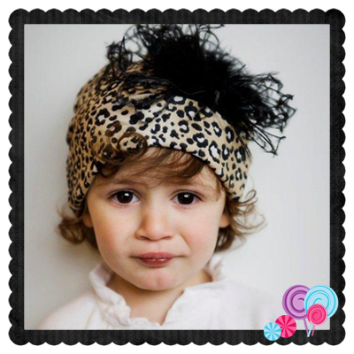 Cheetah Hat Black Marabou