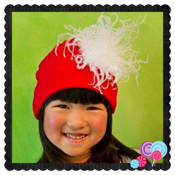 Santa Hat w/curly feather