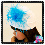 White Hat Blue Feather